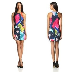Trina Turk Amaya Fitted Multicolored Mini Dress 0